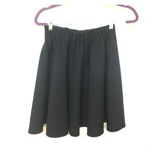Zara navy, a-line short-ish skirt